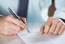 Contrato de parceria entre corretor de imóveis e imobiliária.